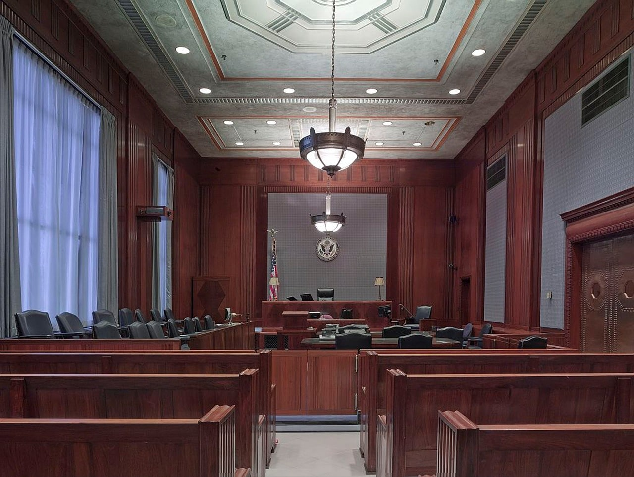 courtroom, benches, seats